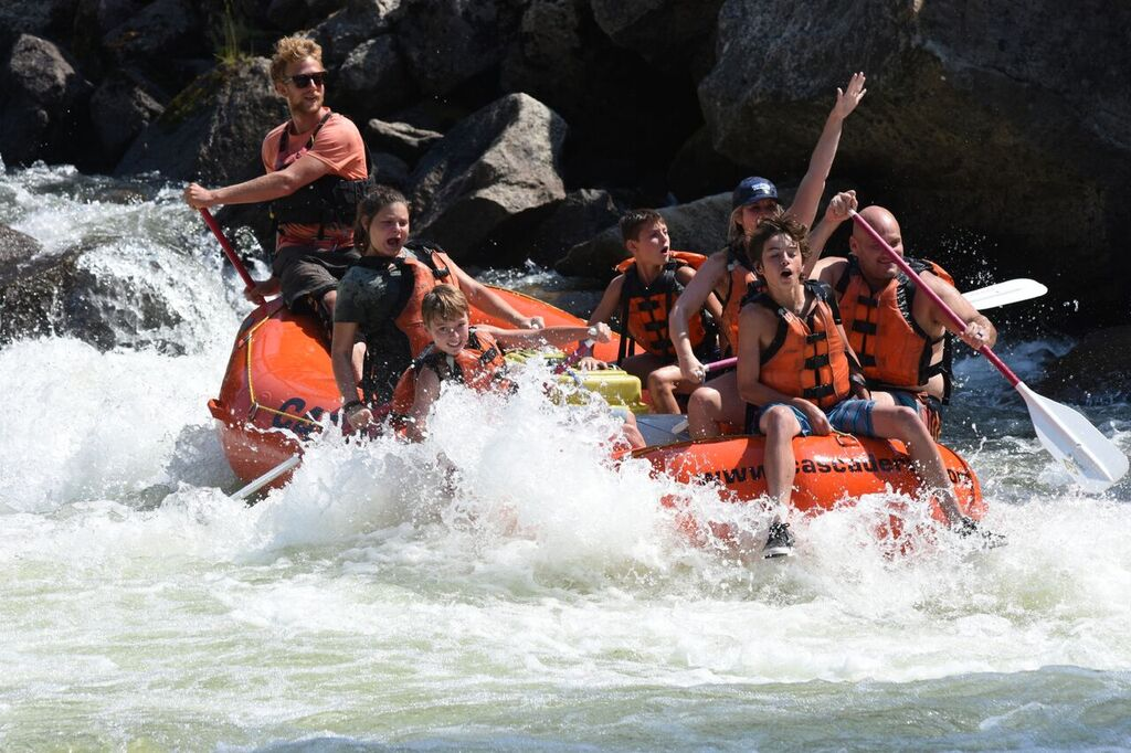 Cabarton Run on the Payette River with my family